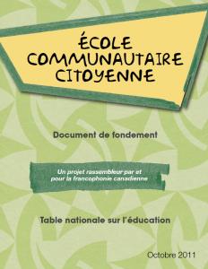 ECC - Document de fondement