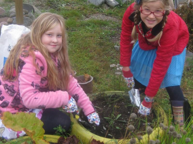 Jardin d'école biologique communautaire